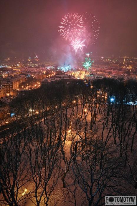 Fotografie Chełma w Nowy Rok