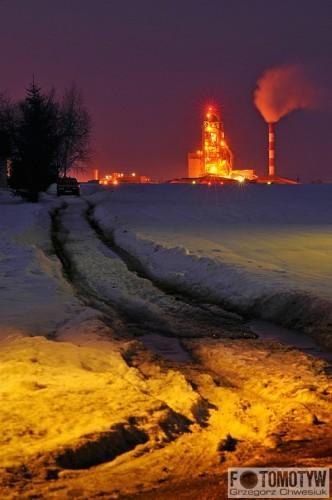 Cementownia Chełm - CEMEX - zdjęcie nocne