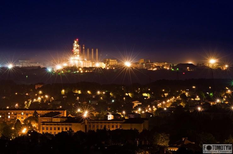 Cemex - Cementownia Chełm III i II - zdjęcie nocne