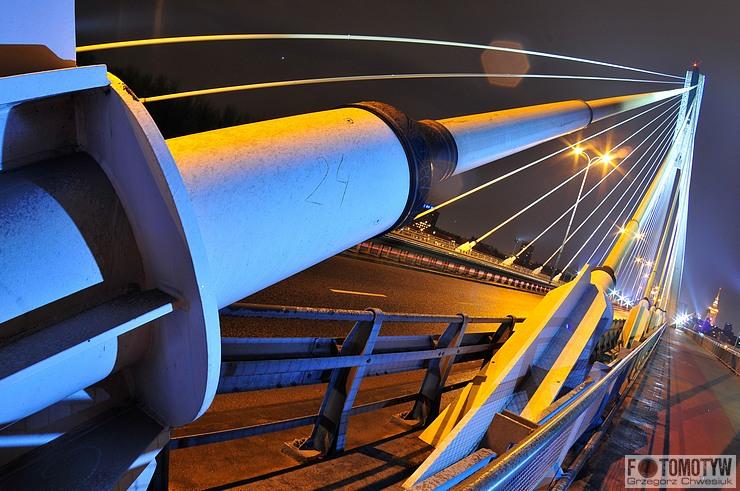 Warszawa - Most Świętokrzyski nocą