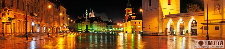 Warszawa  - Starówka nocą